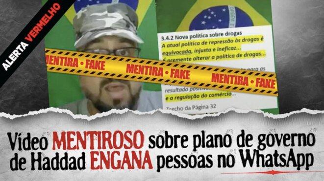 «Alerte rouge» contre les mensonges sur Fernando Haddad.