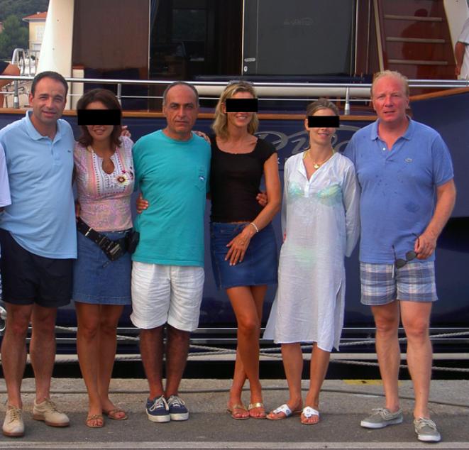 Ziad Takieddine en compagnie de Brice Hortefeux et Jean-François Copé et leurs épouses © Photo Mediapart