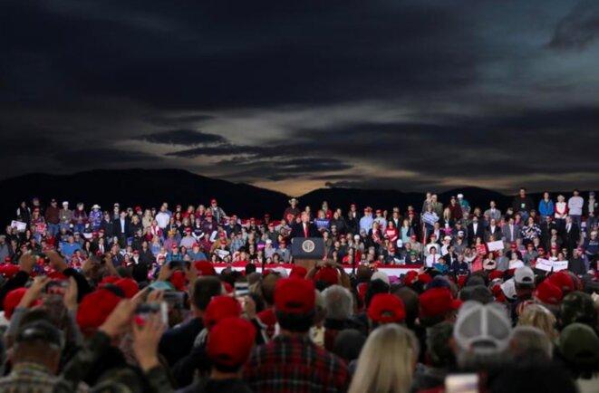 Meeting de Trump à Missoula, Montana, le 18 octobre. © Reuters