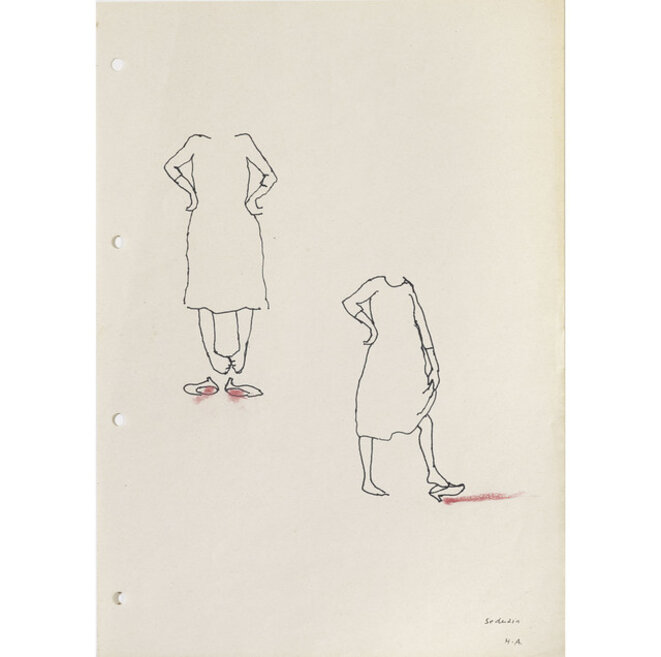 "Helena Almeida, Etudes pour le série ""Seduzir"" (séduire), 2002, © Collection Helga de Alvear, Madrid © Helena Almeida"