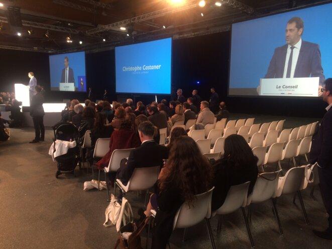 Lors de la convention LREM, le 21 octobre 2018, à Paris. © MJ