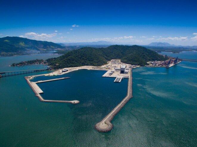 La base navale construite par la coentreprise de Naval Group et Odebrecht. © DR