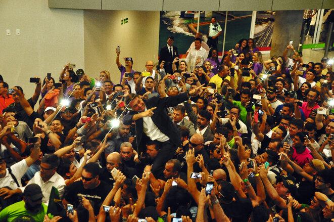 Jair Bolsonaro durant la campagne présidentielle. © Reuters
