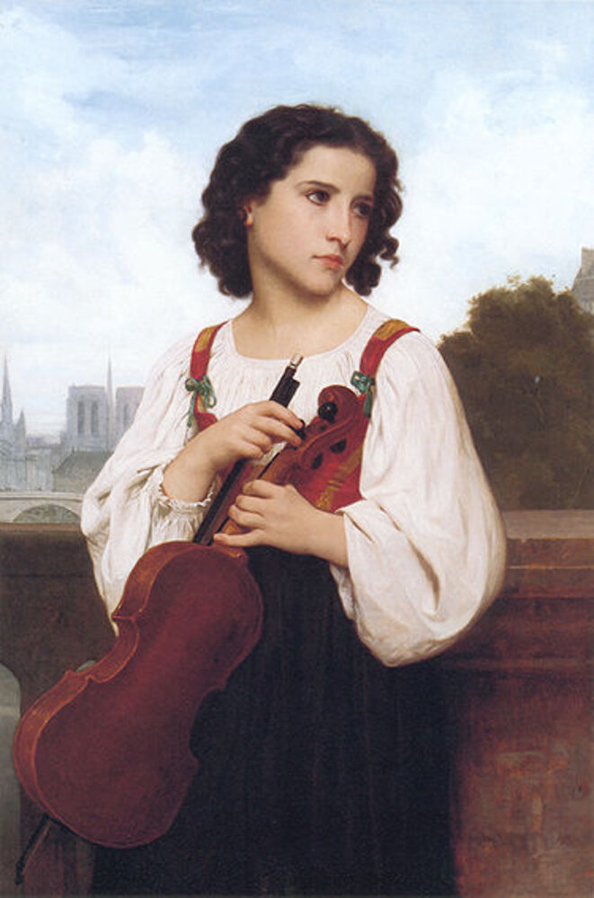 """""""Seule au monde"""" 1867 © William Bouguereau"""