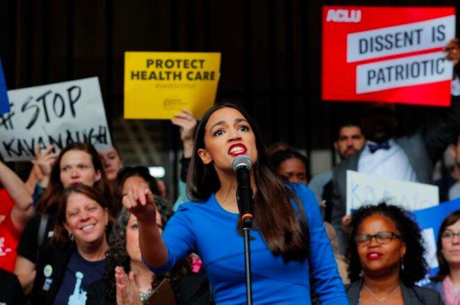 Alexandria Ocasio-Cortez, 28 ans, nouvelle figure du socialisme américain. © Reuters