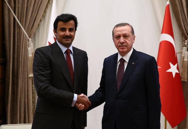 L'émir du Qatar avec le président de Turquie