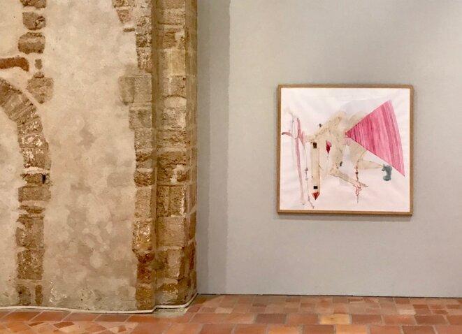 """Béatrice Cussol, """"Sans titre"""", dessin rehaussé d'aquarelle, 2018. © Béatrice Cussol, crédit photo : Guillaume Lasserre"""