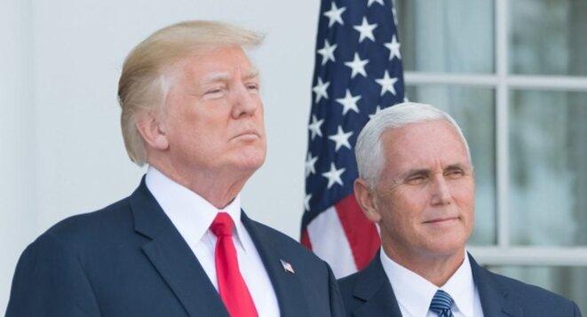 Mike Pence aux côtés de Donald Trump le 11 janvier 2018 © Site de l'ambassade américaine d'Irlande, 2018