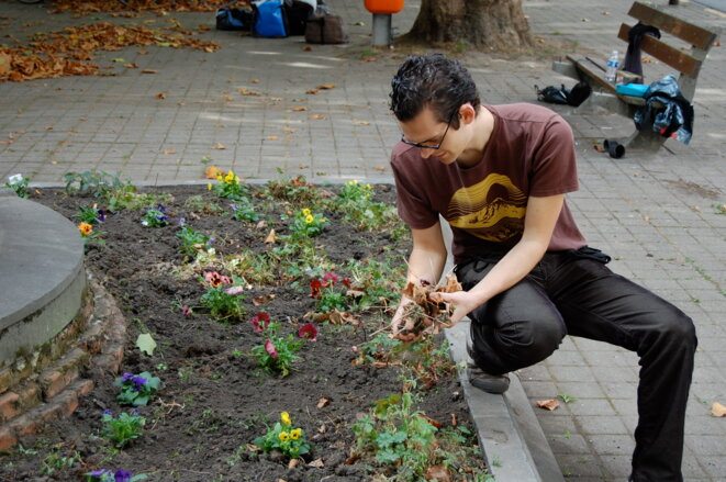 Guerilla Gardening à Gand (Belgique) © Mathias Baert CC BY-SA 2.0