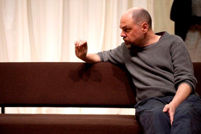 """Frank Vercruyssen dans """"Après la répétition"""" © Dylan Piaser"""