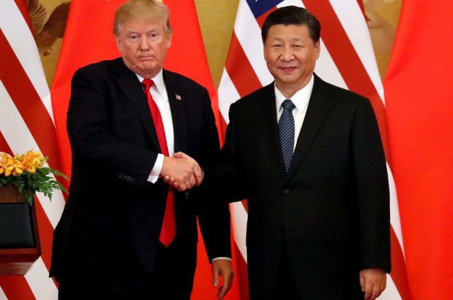 Donald Trump y Xi Jinping en marzo de 2018. © Reuters