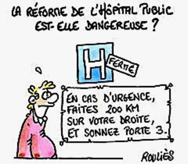Réforme de l'Hôpital public © Rouliès