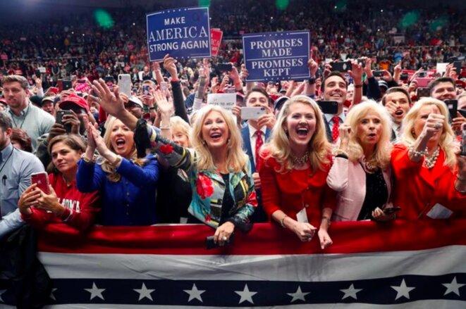 Meeting de Trump à Charlotte (Caroline du Nord), le 26 octobre. © Reuters