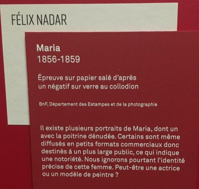 """cartel de l'expo """"Les Nadar"""""""