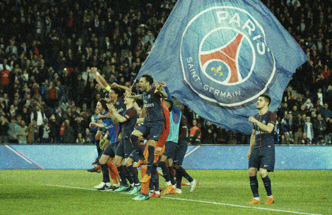 Le PSG au Parc des Princes, à Paris. © Reuters