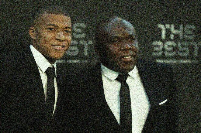 Wilfrid Mbappé (à droite) veille sur la carrière sportive et le business de son fils. © Reuters