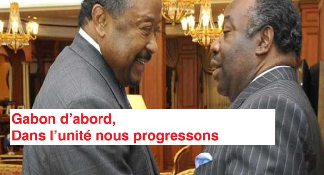 Le président Ali Bongo Ondimba et l'opposant Jean Ping
