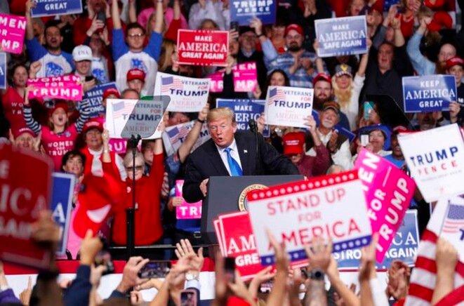 Mitin de Trump en Charlotte (Carolina del Norte), el 26 de octubre. © Reuters