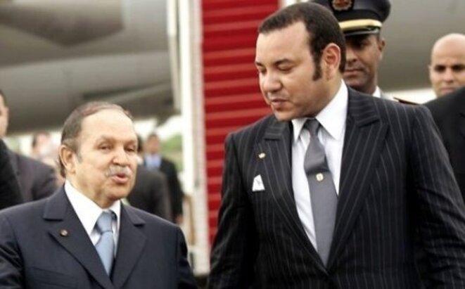 Mohammed VI, roi du Maroc avec Abdelaziz Bouteflika, président de l'Algérie