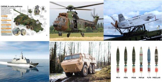 Quelques exemples des armes livrées à l'Arabie saoudite et aux EAU ces dernières années.