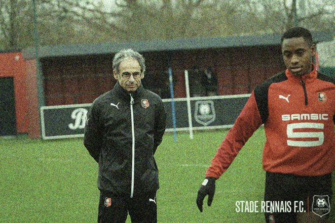 Marc Westerloppe, pictured here in training at French Ligue 1 club Stade Rennais which he joined after leaving PSG in January 2018. © Stade Rennais