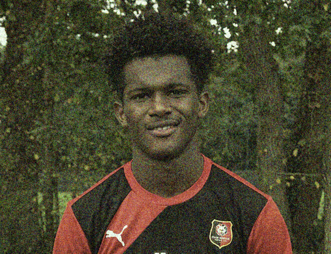 Highly talented young footballer Yann Gboho, who PSG decided not to recruit during the 2013-2014 season. © Stade Rennais