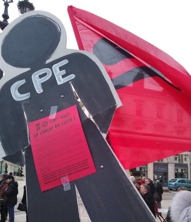 En manifestation à Orléans, le 22 mars 2018 © T. R.