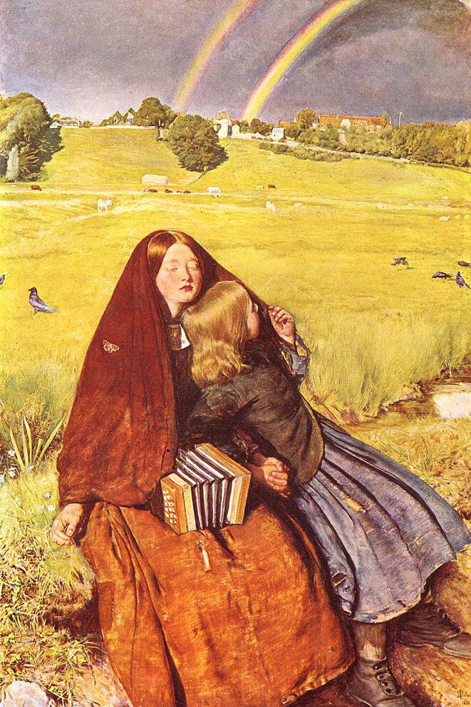 The blind girl John Everett Millais. ( 1854-1856 )