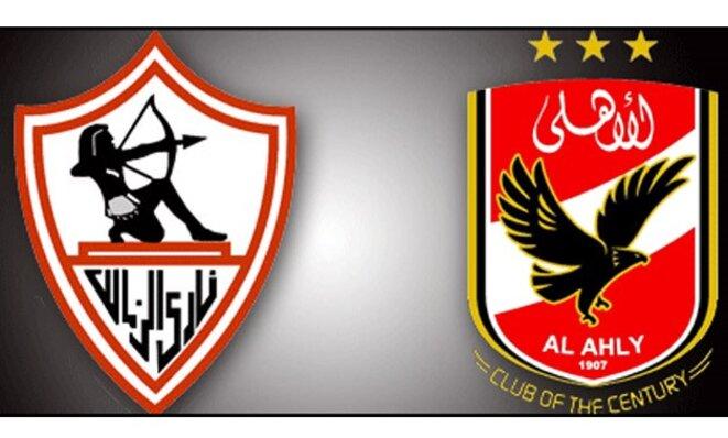 Ecusson du Zamalek Sporting Club (à gauche) et celui du Al-Ahly Sporting Club