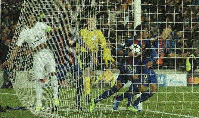 """Uno de los goles de Neymar durante la """"remontada"""" del Barça contra el PSG en Barcelona. © Reuters"""