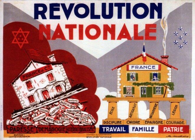 Propagande pour la Révolution Nationale © Domaine public