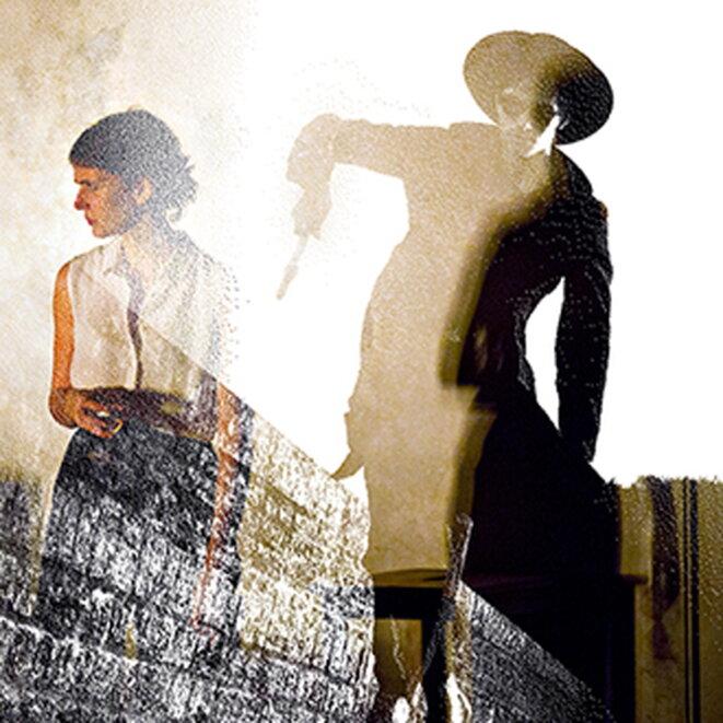 """Illustration pour """"Une nuit américaine"""" de Matthieu Bauer, création Nouveau Théâtre de Montreuil, oct. 2018 © Photo : Jean-Louis Fernandez - montage : Change is good - Visuel"""