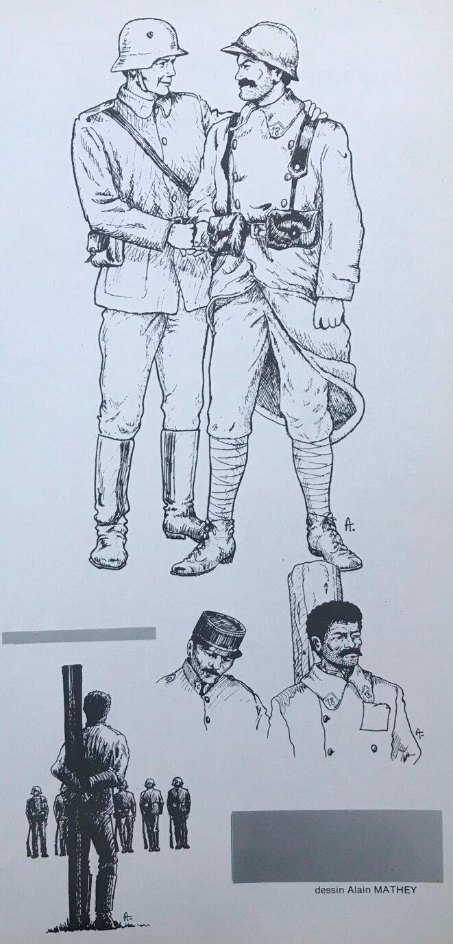 """Dessins d'Alain Mathey, parus dans le n° de novembre-décembre 1985 de la revue """"L'Estocade"""""""