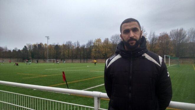 Le coach et président de l'Olympique Football Club de Pantin, Mohamed Id Said. © Sarah Nedjar