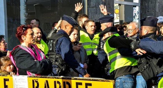 Une mobilisation des gilets jaunes. © Philippe Huguen / AFP