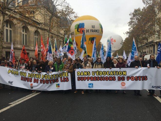 Dans la manifestation parisienne. © FZ