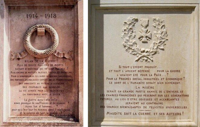 Monument aux morts de Saint-Martin d'Estréaux, dans la Loire