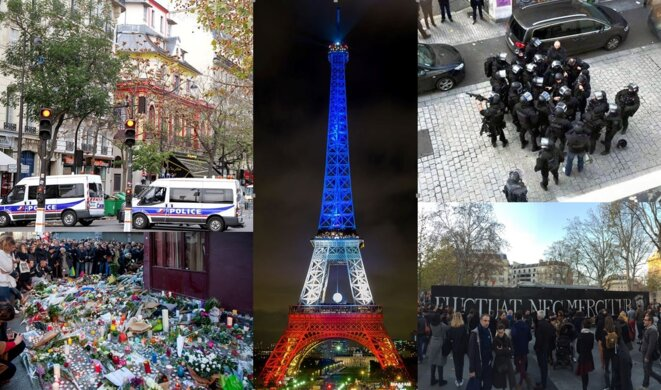 Les attentats de 2015 à Paris...
