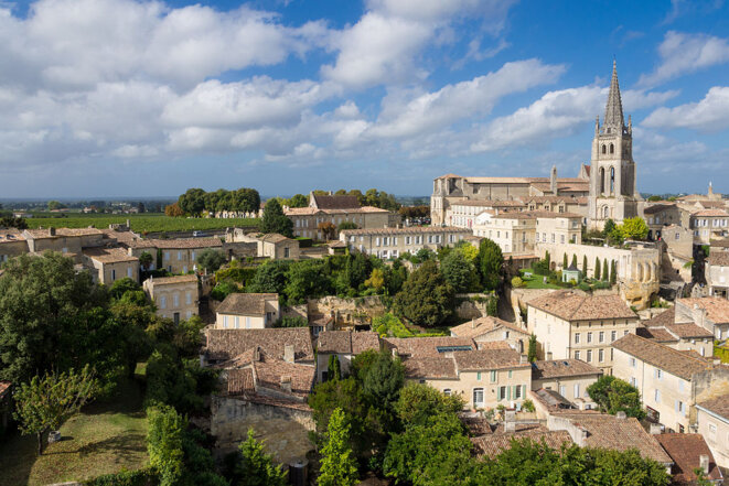 The medieval village of Saint-Émilion, one of the most prestigious wine areas in France.