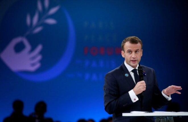 11 Novembre-Forum sur la Paix de Paris-Le Président Emmanuel Macron
