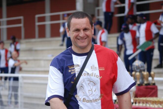 Mohammed Belkacemi, lors d'un match organisé contre le racisme, en 2008. © DR