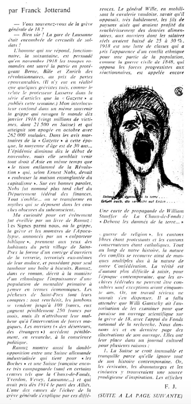 """""""La Gazette Littéraire"""", 10-11 novembre 1968"""