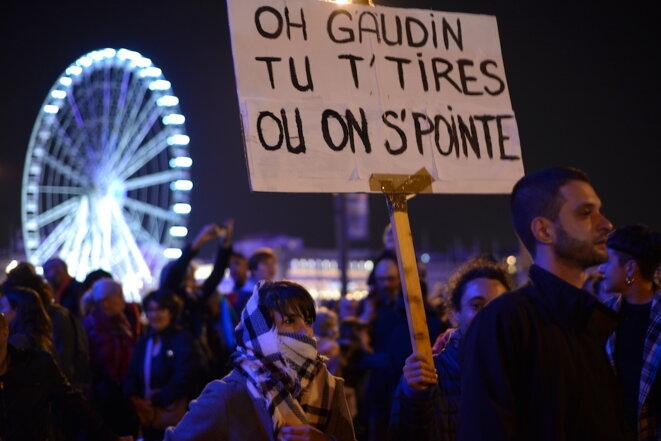 Marche de la colère, à Marseille, le 14 novembre 2018. © LF