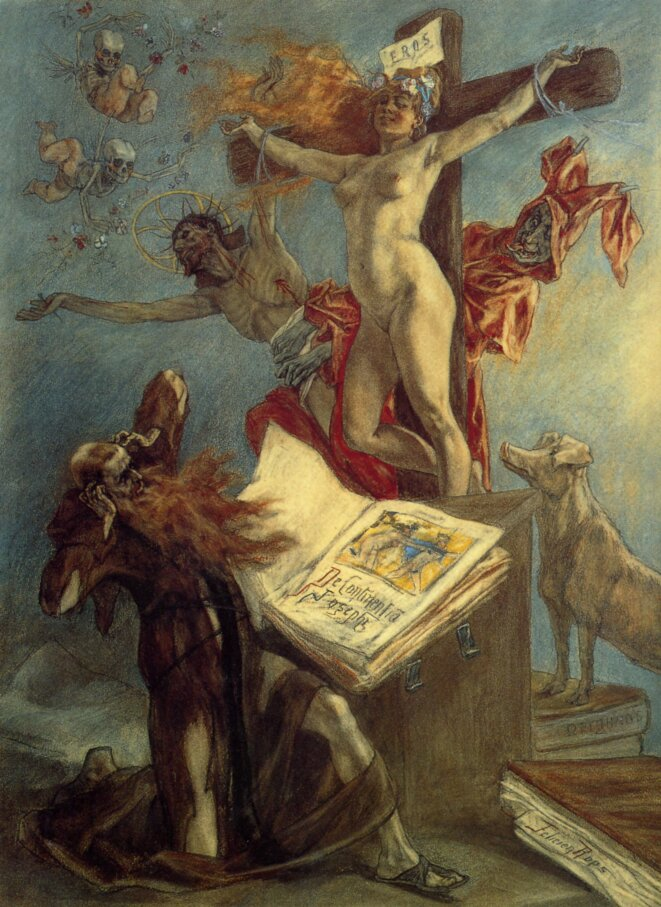 La tentation de Saint Antoine, Félicien Rops, 1878