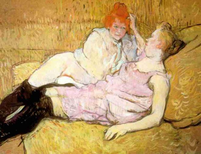 Le Sofa, Henri de Toulouse Lautrec, 1895
