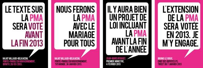 """Visuels du collectif pro-égalité des droits """"OuiOuiOui"""". © ouiouioui.org"""