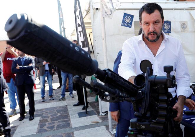 Matteo Salvini, vice-président du gouvernement italien et ministre de l'intérieur. © Reuters