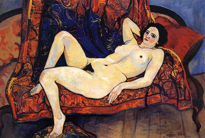 Nu sur canapé rouge, Suzanne Valadon, 1929