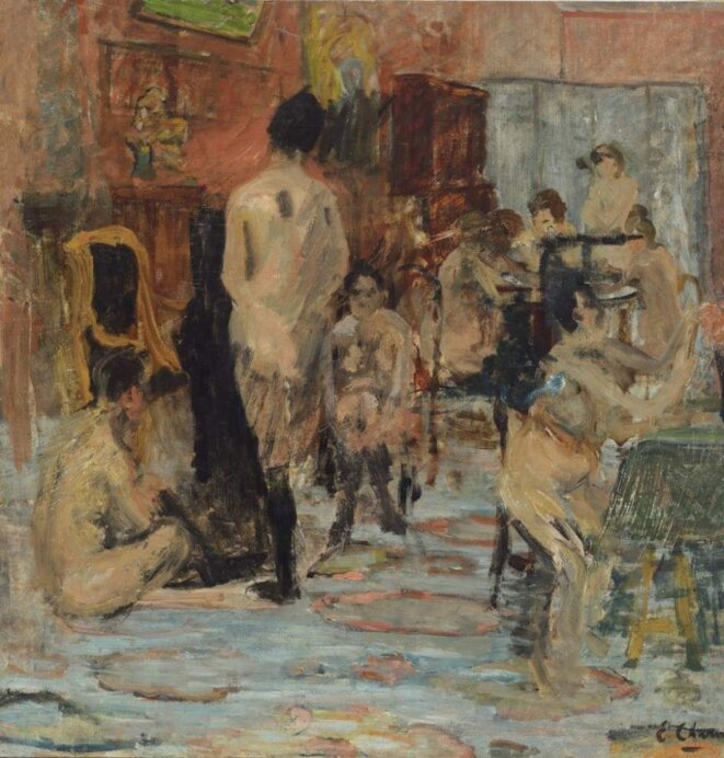 The salon, Emilie Charmy, 1900