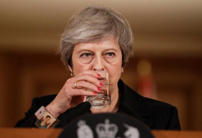 Theresa May lors d'une conférence de presse à Londres, le 15 novembre 2018. © Matt Dunham / Reuters